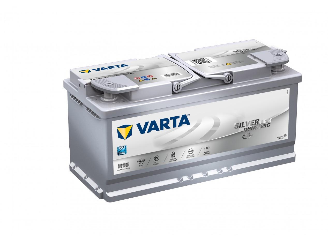 Aperçu du produit BATTERIE VARTA START STOP PLUS AGM H15 12V 105AH 950A