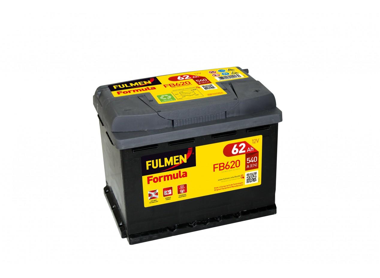 Aperçu du produit BATTERIE FULMEN FORMULA FB620 12V 62AH 540A
