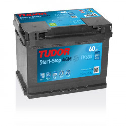 Aperçu du produit Batterie Start-stop AGM TUDOR TK600 12V 60Ah 680A