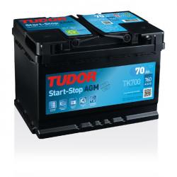 Aperçu du produit Batterie Start-stop AGM TUDOR TK700 12V 70Ah 760A
