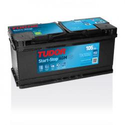 Aperçu du produit Batterie Start-stop AGM TUDOR TK1050 12V 105Ah 950A