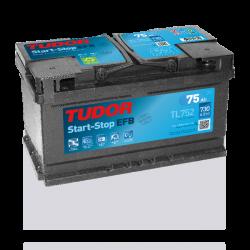 Aperçu du produit Batterie Start-stop EFB TUDOR TL752 12V 75Ah 730A