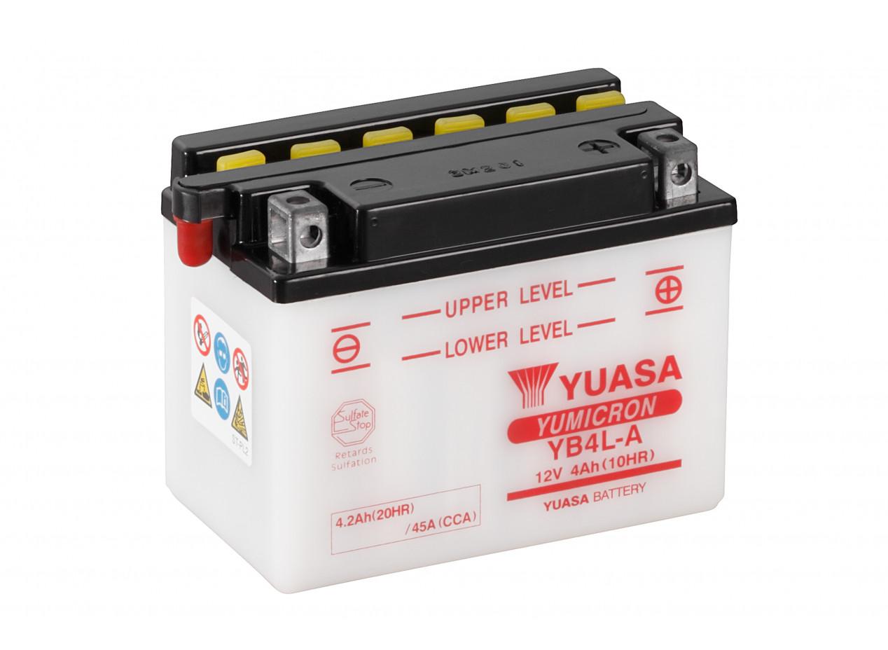 Aperçu du produit BATTERIE MOTO YUASA YB4L-A 12V 4AH 45A