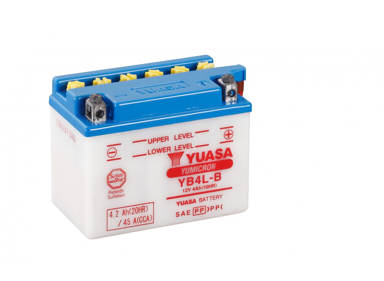 Aperçu du produit BATTERIE MOTO YUASA YB4L-B 12V 4AH 45A