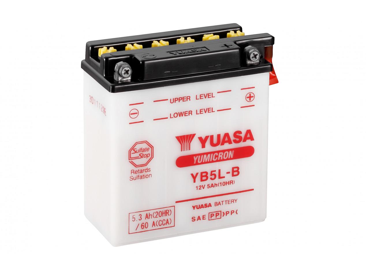 Aperçu du produit BATTERIE MOTO YUASA YB5L-B 12V 5AH 60A
