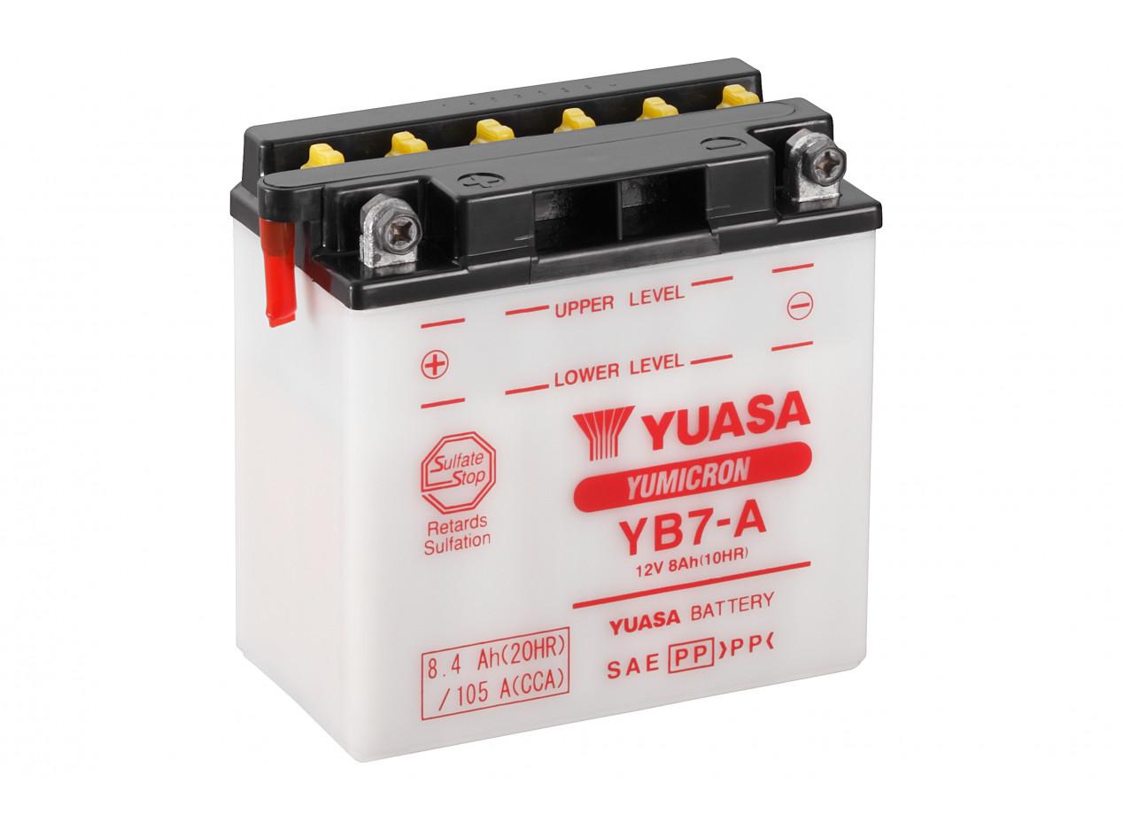 Aperçu du produit BATTERIE MOTO YUASA YB7-A 12V 8AH 105A