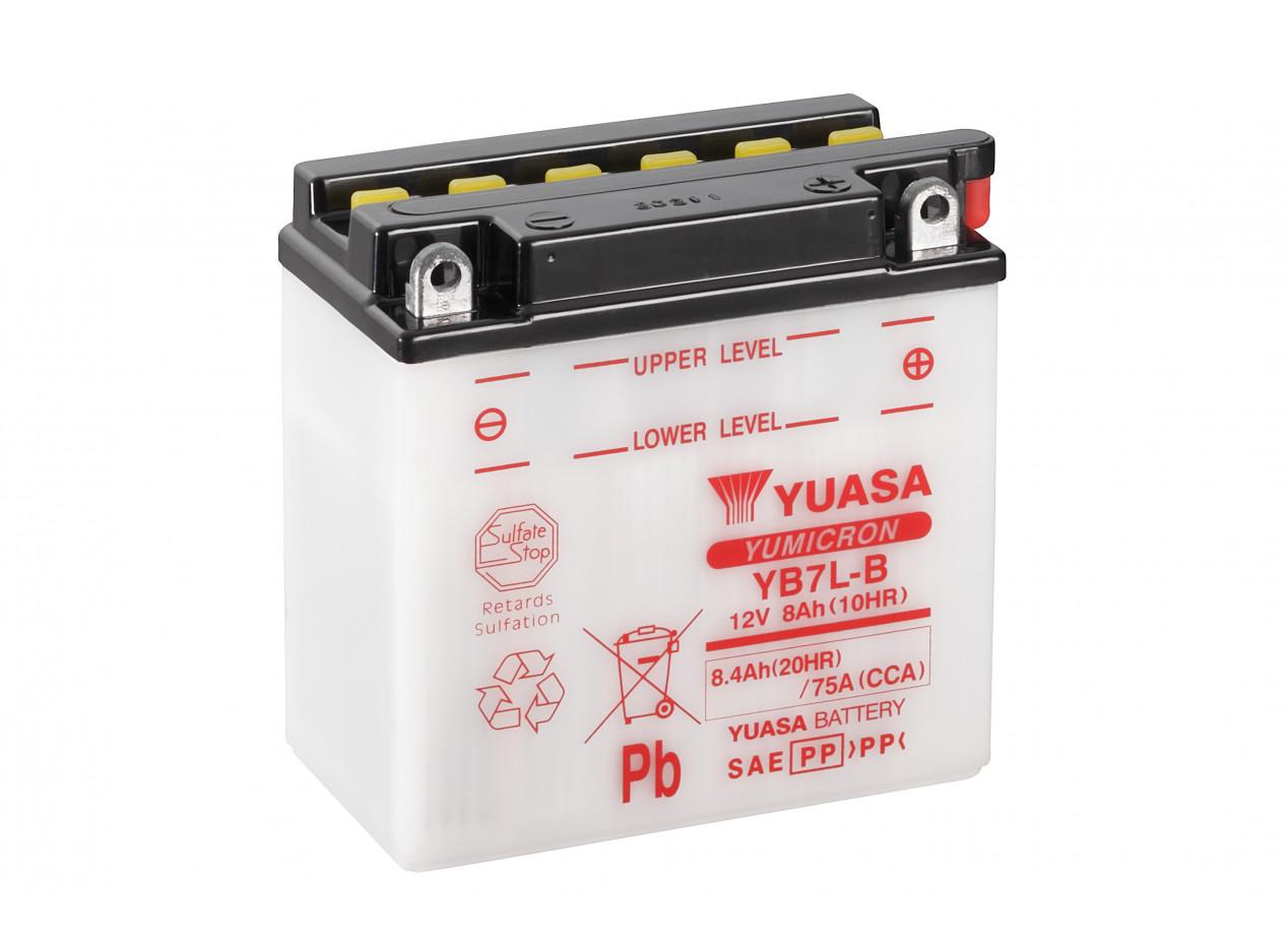 Aperçu du produit BATTERIE MOTO YUASA YB7L-B 12V 8AH 75A