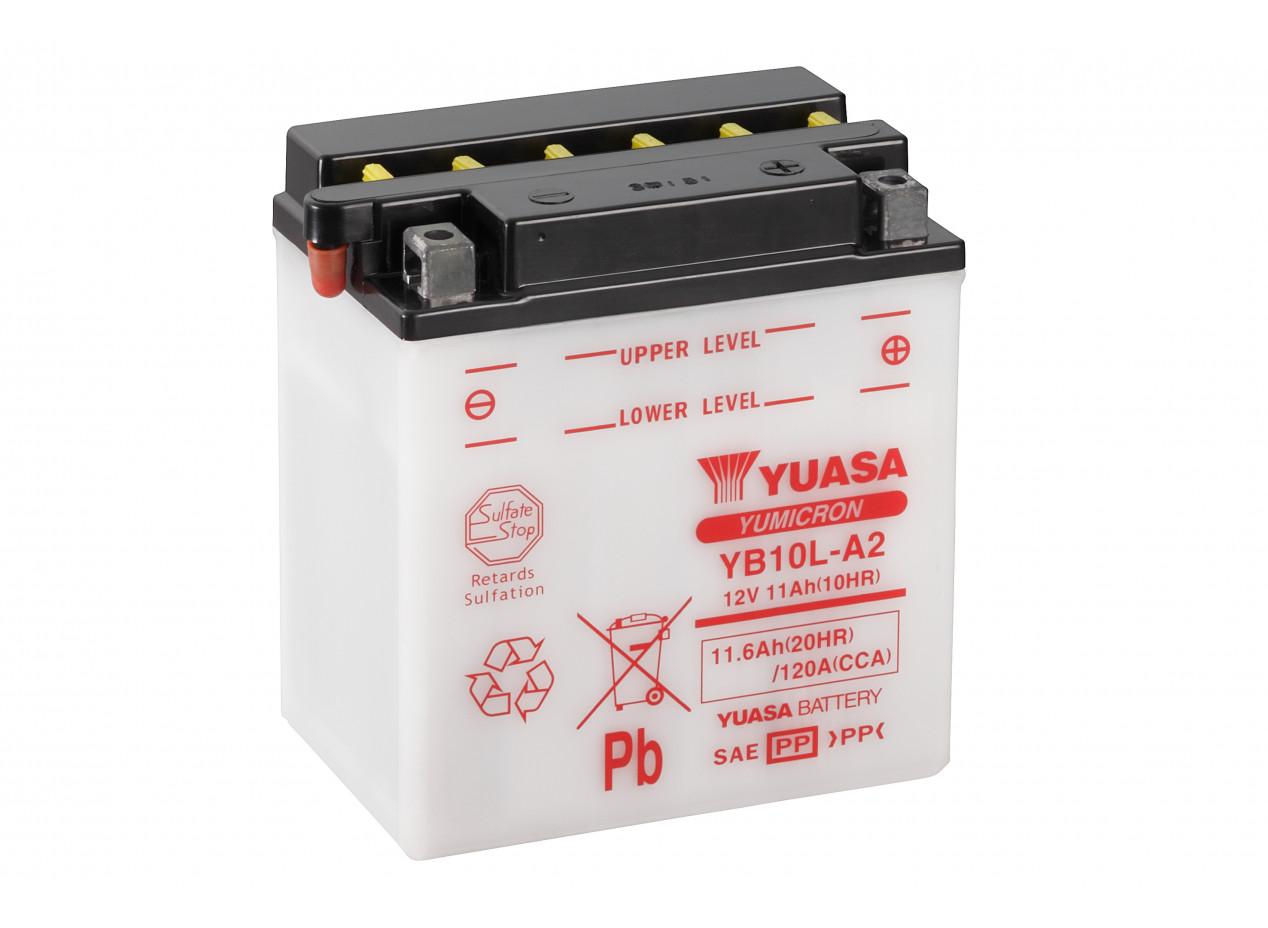 Aperçu du produit BATTERIE MOTO YUASA YB10L-A2 12V 11AH 120A