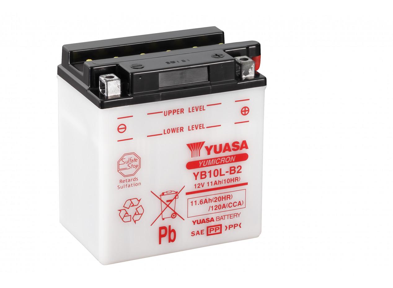 Aperçu du produit BATTERIE MOTO YUASA YB10L-B2 12V 12AH 120A