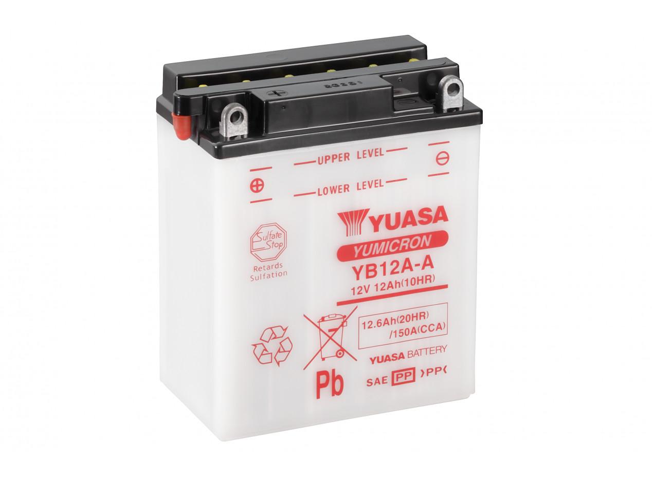 Aperçu du produit BATTERIE MOTO YUASA YB12A-A 12V 12AH 150A