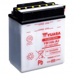 Aperçu du produit BATTERIE MOTO YUASA  YB14A-A2 12V 14AH 175A