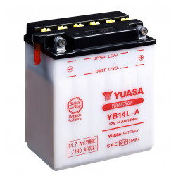 Aperçu du produit BATTERIE MOTO YUASA YB14L-A 12V 14AH 190A