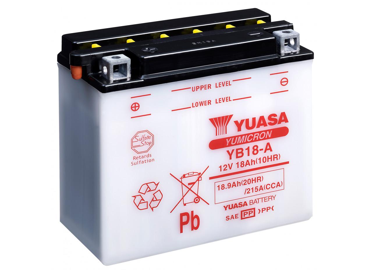 Aperçu du produit BATTERIE MOTO YUASA YB18-A 12V 18AH 215A