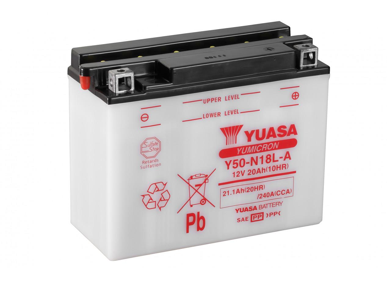 Aperçu du produit BATTERIE MOTO YUASA Y50-N18L-A 12V 20AH 240A