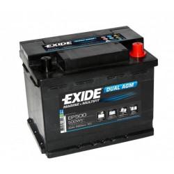 Aperçu du produit BATTERIE EXIDE DUAL AGM EP500 12V 60AH 680A