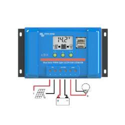 CONTROLEUR DE CHARGE VICTRON ENERGY BLUESOLAR PWM LCD&USB 12/24V 10A