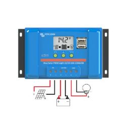 CONTROLEUR DE CHARGE VICTRON ENERGY BLUESOLAR PWM LCD&USB 12/24V 5A