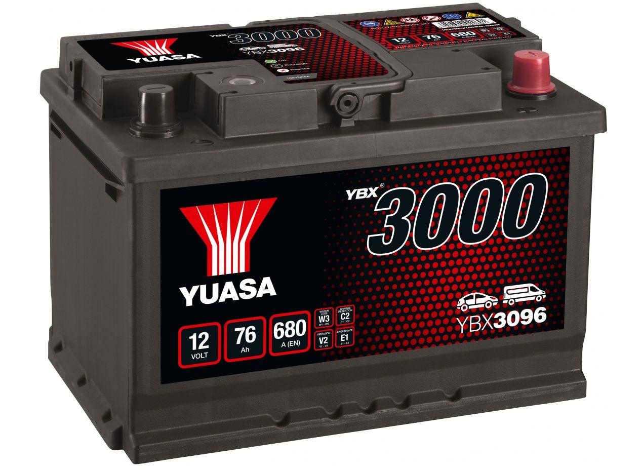 BATTERIE YUASA YBX3096 12V 76AH 680A