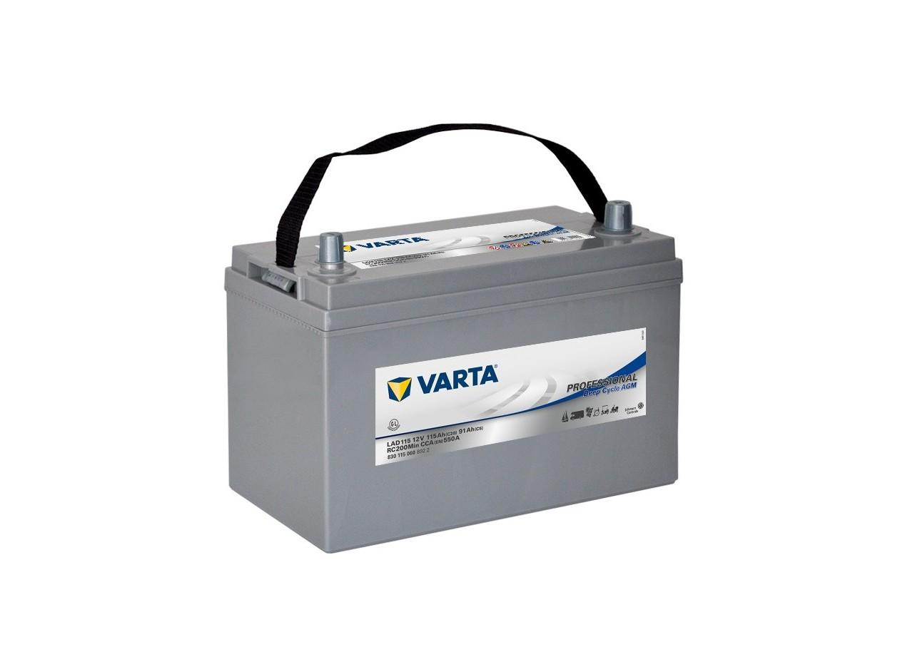 Aperçu du produit BATTERIE DECHARGE-LENTE VARTA AGM LAD115 12V 115AH 600A