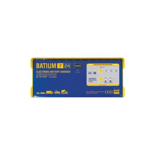 chargeur de batterie gys batium 7 24 automatique 6 12 24 volts. Black Bedroom Furniture Sets. Home Design Ideas